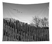 Dune Fences - Grayscale Tapestry