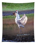 Sandhill Crane Painted Tapestry