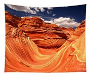 Sandstone Waves And Clouds Tapestry