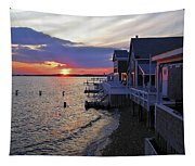 Sandy Neck Sunset At The Cottages Tapestry