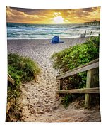 Sandy Walk Down To The Beach Tapestry