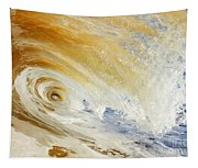 Sandy Wave Crashing Tapestry