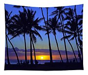 Sans Souci Sunset Waikiki Tapestry