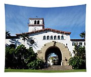 Santa Barbara Courthouse -by Linda Woods Tapestry