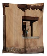 Santa Fe Adobe Window Tapestry