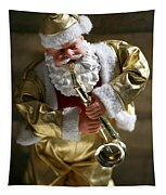 Santa Playing The Saxaphone Tapestry