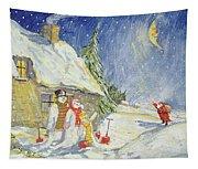 Santa's Visit Tapestry