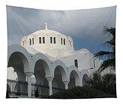 Santorini Church 2 Tapestry