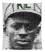 Satchel Paige Kc Monarchs African American Mosaic Tapestry