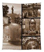 Savannah Landmarks In Sepia Tapestry