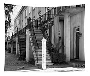 Savannah Steps Black And White Tapestry