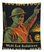Save Food Poster Tapestry