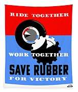 Save Rubber For Victory - Wpa Tapestry