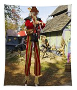 Scarecrow Walking On Stilts Tapestry