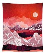 Scarlet Glow Tapestry