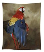 Scarlet Macaw One Tapestry