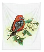 Scarlet Tanager - Summer Season Tapestry