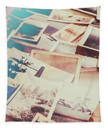 Scattered Collage Of Old Film Photography Tapestry