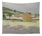 Scene At Giverny, 1890 Tapestry