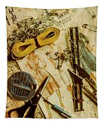 Scene From A Fifties Craft Room Tapestry