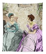 Scene From Anthony Trollope's Novel He Knew He Was Right Tapestry