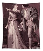 Scene From Much Ado About Nothing By William Shakespeare Tapestry