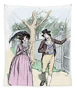 Scene From Sense And Sensibility By Jane Austen Tapestry