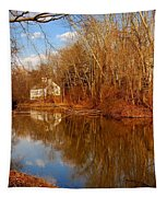 Scene In The Forest - Allaire State Park Tapestry