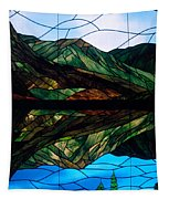 Scenic Stained Glass  Tapestry