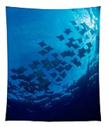 Schooling Cownose Rays Tapestry
