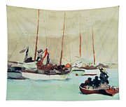 Schooners At Anchor In Key West Tapestry