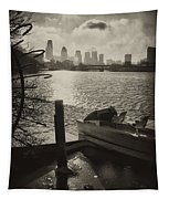 Schuylkill River In Winter Tapestry