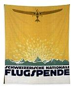 Schweizerische Nationale Flugspende - Flight Donation - Retro Travel Poster - Vintage Poster Tapestry