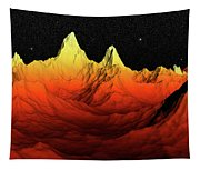 Sci Fi Mountains Landscape Tapestry