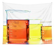 Scientific Beakers In Science Research Lab Tapestry