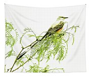 Scissortail On Mesquite Tapestry