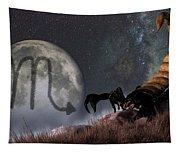 Scorpio Zodiac Symbol Tapestry