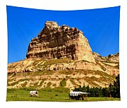 Scotts Bluff National Monument Panorama Tapestry