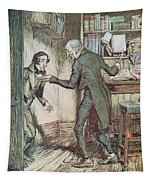 Scrooge And Bob Cratchit Tapestry