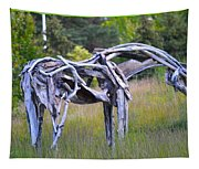 Sculpture Of Horse Tapestry