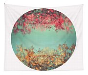 Gold And Pink Tapestry