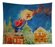 Sea Blue Christmas  Tapestry