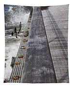 Sea Cliff Seawall Boardwalk Tapestry