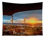 Sea Cruise Sunrise Tapestry