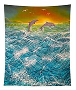 Sea In Action Tapestry