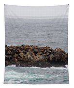 Sea Lion Hang Out - 2 Tapestry by Christy Pooschke