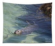 Sea Lion In Clear Blue Waters Tapestry