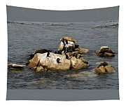 Sea Lions And Birds Tapestry