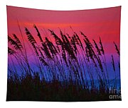 Sea Oat Sunset Tapestry
