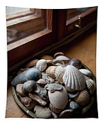 Sea Shells And Stones On Windowsill Tapestry